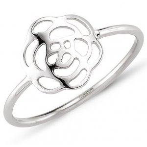 14K Solid Gold Rose Ring