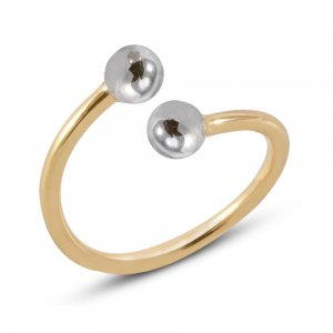 14K Solid Gold Midi Ball Ring