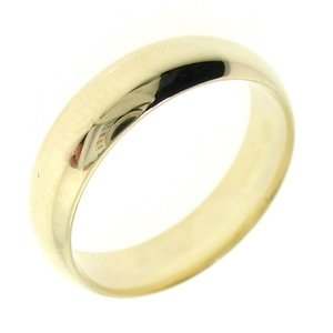 14K Solid Gold Wedding Band Classic Ring