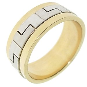 14K Solid Gold Wedding Band Ring