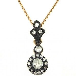 0.32ct. Diamond 8K Solid Gold Rose Cut Necklace