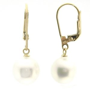 14K Solid Gold Pearl Earring