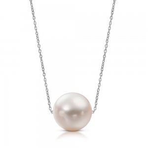 8K Solid Gold Pearl Necklace