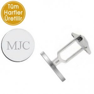 14K Solid Gold Initial Name Cufflink