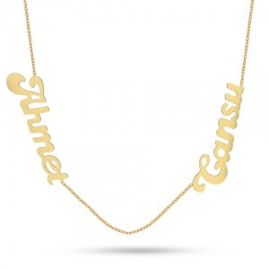 14K Solid Gold Name Necklace