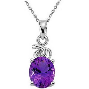 925K Silver Amethyst Necklace