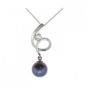 925K Silver Modern Design Pearl Necklace