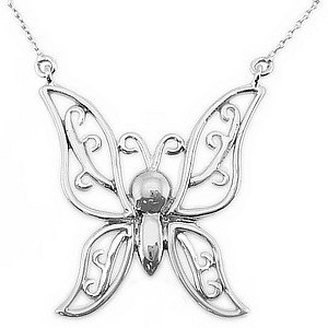 925K Silver Butterfly Necklace
