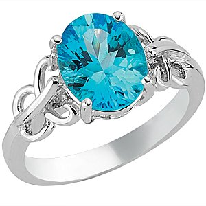 925K Silver Blue Topaz Ring