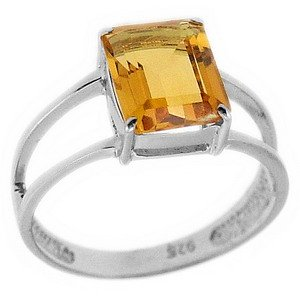 925K Silver Modern Design Citrine Ring