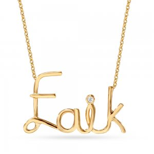 14K Solid Gold Wire Name Necklace