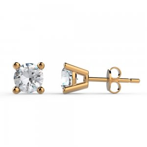 0.6ct. Diamond 14K Solid Gold Solitaire Classic Earring