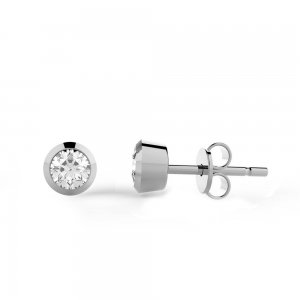 0.2ct. Diamond 14K Solid Gold Solitaire Classic Earring