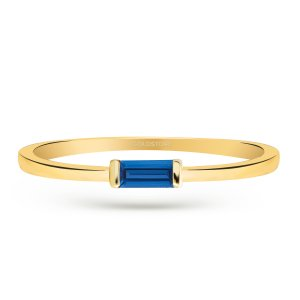 0.17ct. Sapphire 14K Solid Gold Ring