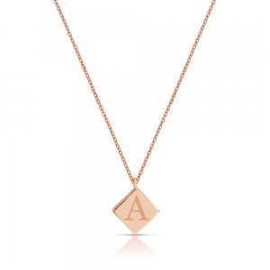 14K Solid Gold Initial Medallion Necklace