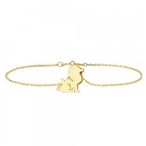 14K Solid Gold Modern Design Lion Bracelet