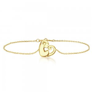 14K Solid Gold Modern Design Monkey Bracelet