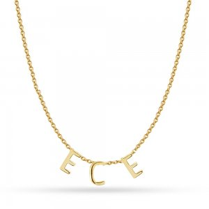 14K Solid Gold Initial Name Necklace