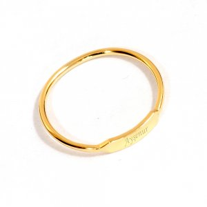 14K Solid Gold Initial Name Ring