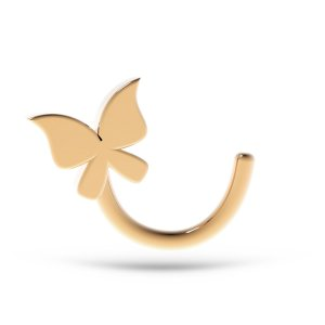 14K Solid Gold Butterfly Tureng