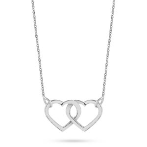 14K Solid Gold Heart Necklace