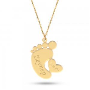 14K Solid Gold Name Heart Necklace