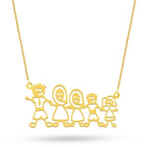 14K Solid Gold Modern Design Classic Necklace
