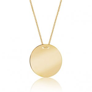 14K Solid Gold Locket Necklace