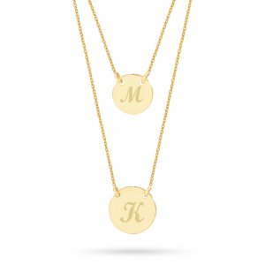 14K Solid Gold Initial Locket Necklace