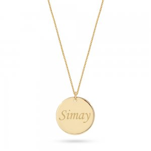 14K Solid Gold Initial Name Locket Necklace