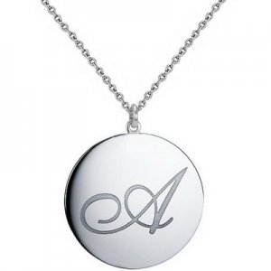 925K Silver Initial Locket Medallion Necklace