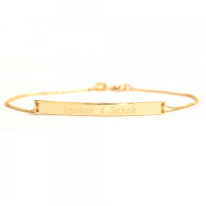 14K Solid Gold Name Medallion Bracelet