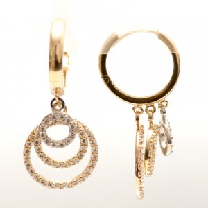 14K Solid Gold Drop Dangle Earring