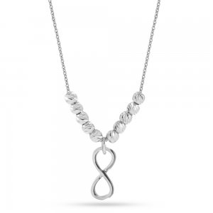 14K Solid Gold Infinity Necklace