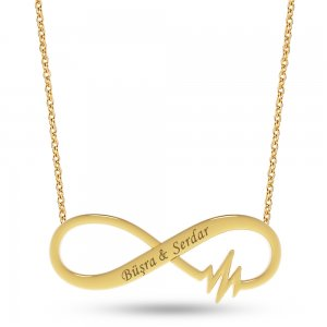 14K Solid Gold Name Infinity Necklace