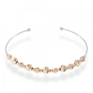 14K Solid Gold Ball Bracelet