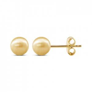 14K Solid Gold Ball Earring
