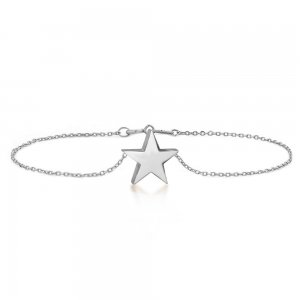 14K Solid Gold Modern Design Star Bracelet