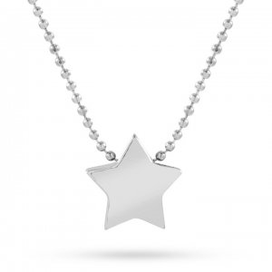 14K Solid Gold Classic Star Necklace