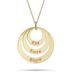 14K Solid Gold Ring Name Necklace