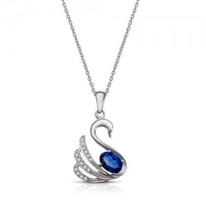 925K Silver Modern Design Cubic Zirconia Necklace