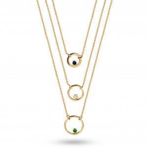 14K Solid Gold Classic Cubic Zirconia Necklace