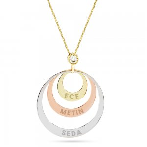 14K Solid Gold Ring Name Cubic Zirconia Necklace